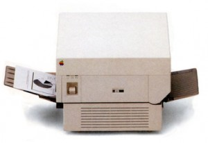Original Apple Laserwriter introduced in 1985