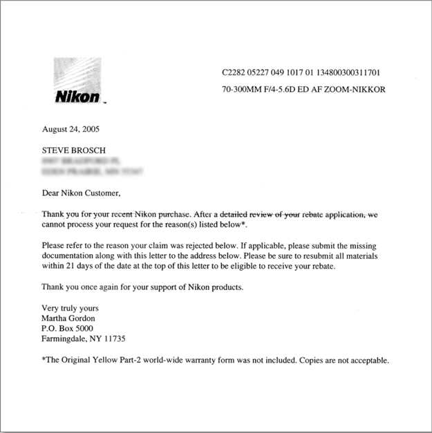 A Nikon Example Of Why I Hate Rebates Connecting The Dots