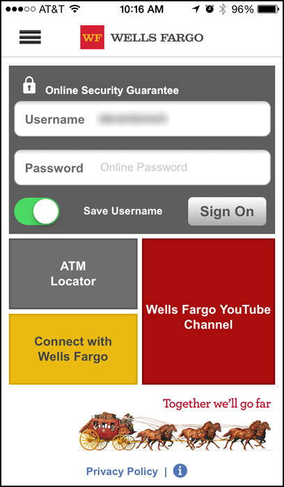 Is The Wells Fargo Mobile App Anti Security Connecting